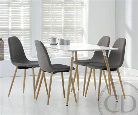 table cuisine blanche table de cuisine blanche scandinave equinox sur cdc design