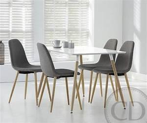 Table Cuisine Scandinave : table de cuisine blanche scandinave equinox sur cdc design ~ Melissatoandfro.com Idées de Décoration