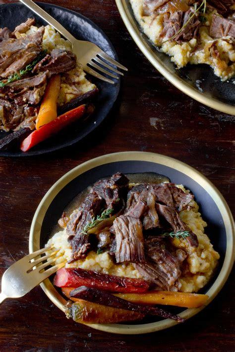 cuisine polenta cooker pot roast polenta bowl with spinach