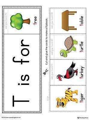 letter  beginning sound flipbook printable color