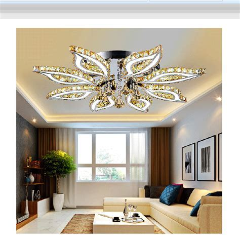 princess flush mount remote control square crystal ceiling