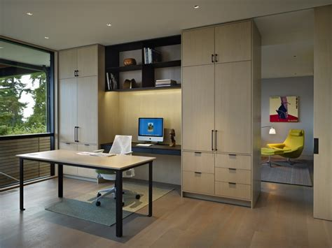 Hillside Modern  Modern  Home Office  Seattle  By. Raised Bed With Desk Underneath. Bunching Coffee Tables. Marriott Platinum Desk. Outdoor Pub Tables. Buy A Pool Table. Desk For Pc Gaming. Personalized Desk Business Card Holder. Steelmaster Cash Drawer Parts