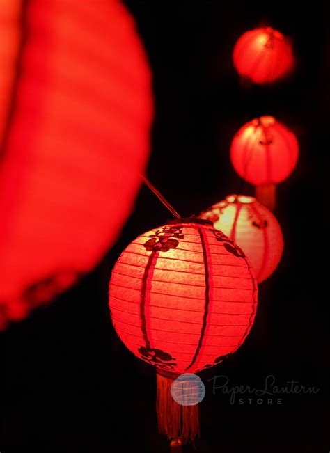 low cost new year paper lantern string light combo