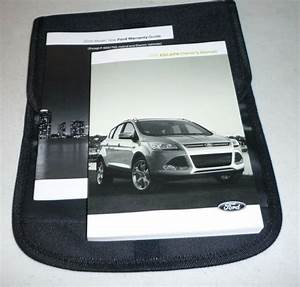 2016 Ford Escape Owners Manual Set 16 Guide W  Case S Se