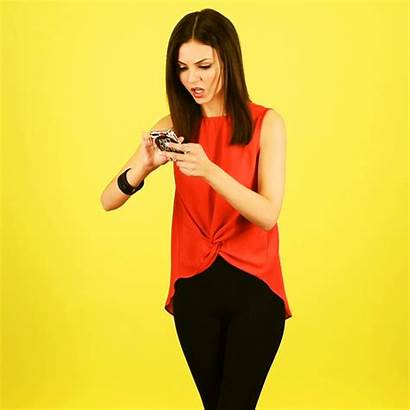 Victoria Justice Phone Instagram Facing Reacts Situations