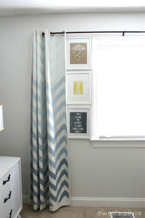 ombre chevron curtains  boys nursery