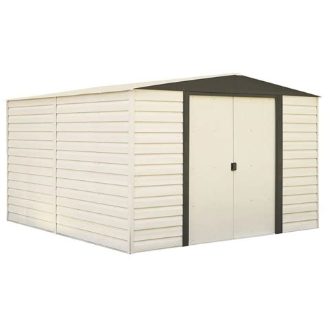 plastic sheds lowes arrow vinyl coated steel storage shed common 10 ft x 12