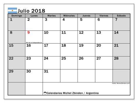 calendario julio argentina michel zbinden es
