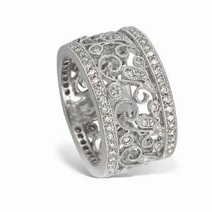 wide diamond rings wedding promise diamond engagement With wide band womens wedding rings