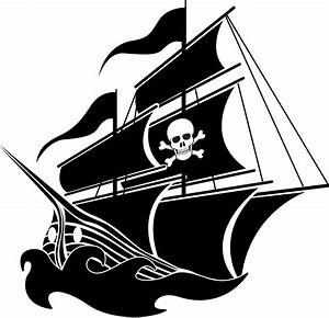 Pirate ship vector clipart - Clipartix