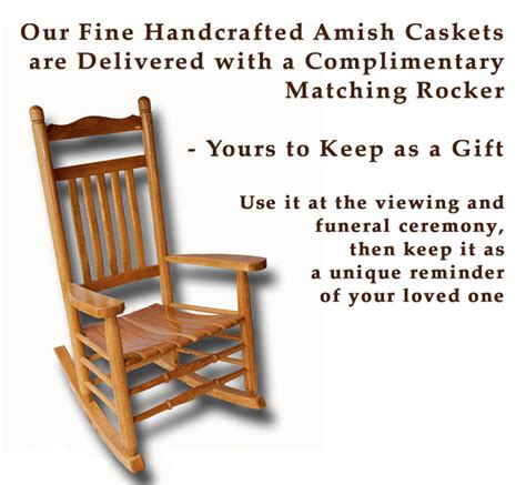 amish caskets and rockers handcrafted unique wooden