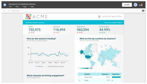 google data studio lance data studio un outil gratuit pour visualiser des donn 233 es et g 233 n 233 rer des reportings