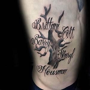 60 Family Tree Tattoo Designs For Men - Kinship Ink Ideas