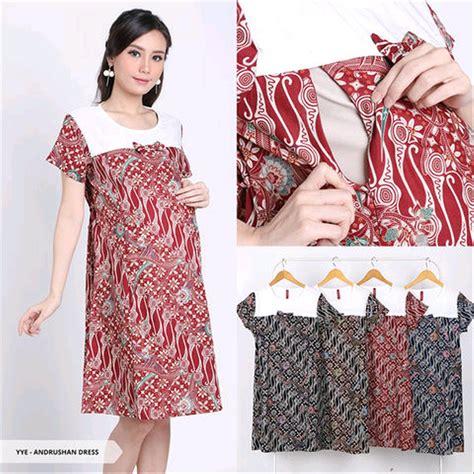 jual baju batik  ibu hamil  menyusui cantik dress