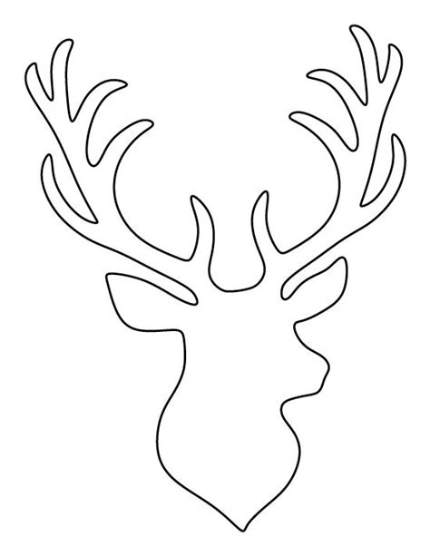 Stag Head Pattern Use The Printable Outline For Crafts