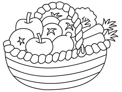 mewarnai gambar buah dalam keranjang gambar buah