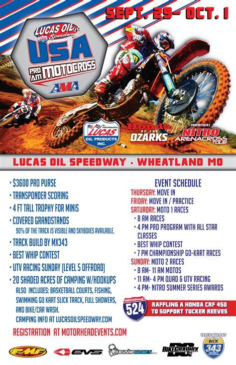 lucas oil ama motocross tv schedule 2017 lucas oil pro motocross chionship broadcast