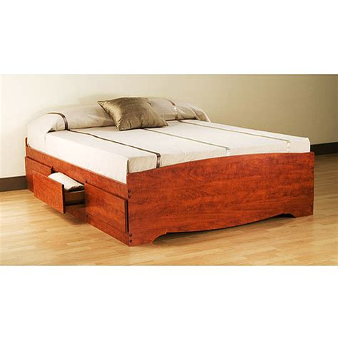 Platform Bed Walmart by Prepac Edenvale Platform Storage Bed Cherry