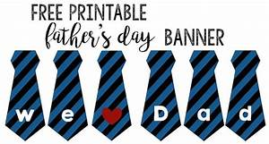 Father's Day Banner Free Printable - Paper Trail Design