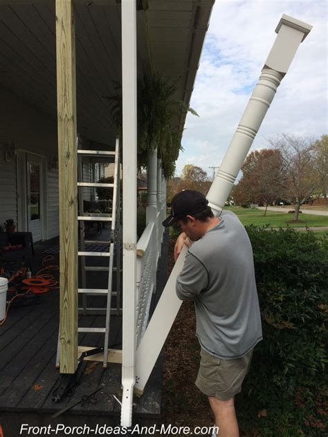 How To Replace Front Porch Columns by Replace A Porch Column The Easy Way