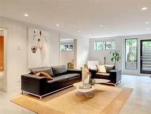 12 superbes decorations de salon avec un canape noir With nettoyage tapis avec canapé 3 2 gris