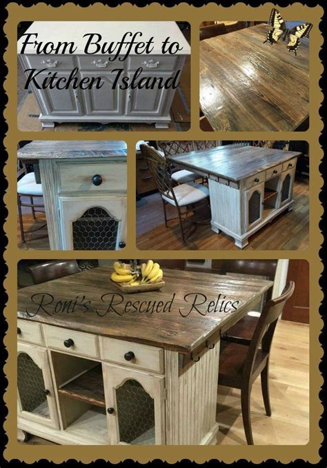 turn buffet  rustic kitchen island diy
