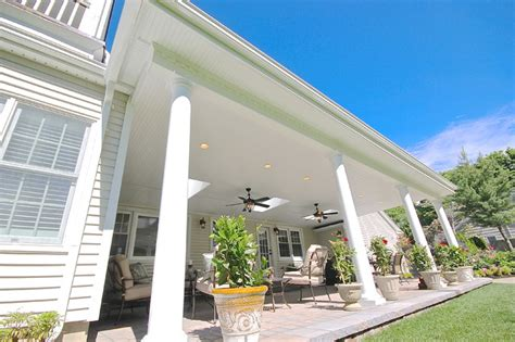 custom outdoor porch and patio overhead in huntington ny