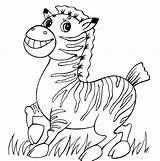 Zebra Coloring Pages Funny Baby Cute Para Colorear Printable Drawing Happy Colouring Cebra Print Dibujos Worksheet Bebes Zebras Dibujo Una sketch template