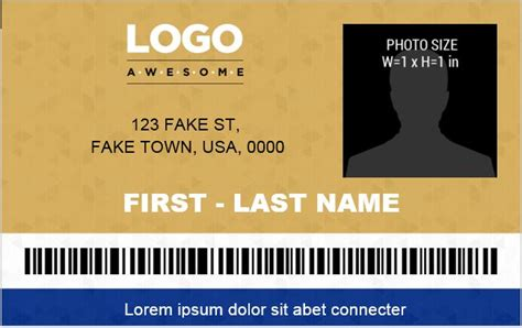 ms word photo id badge templates  office
