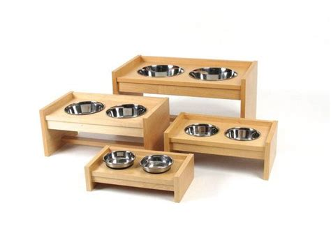 elevated cat food table stylish pet food tables for dog or cat without bowls