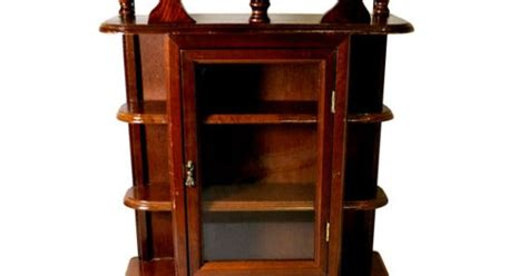 repurposed kitchen cabinets antique wooden small curio cabinet glass door collectible 1884