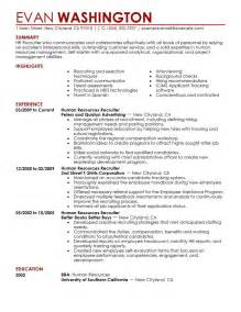 Human Resources Resume Skills by 7 Amazing Human Resources Resume Exles Livecareer