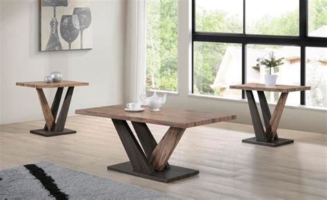 Coffee tables are a fantastic way to anchor your seating arrangement and up the ante on any existing aesthetic! T-5066 - 3 Pc Coffee Table Set in Distressed Two Tone Wood ...