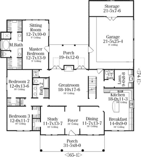 traditional style house plan  beds  baths  sqft