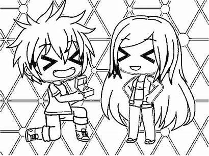 Gacha Coloring Printable Drawings Ausmalbilder Ausmalen Anime