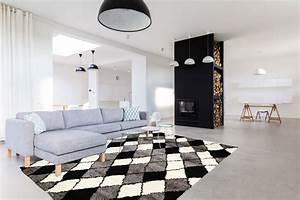 tapis shaggy pour salon scandinave gris volto With tapis décoratif pour salon