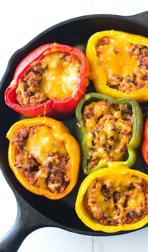 Counter this by supplementing juicy ingredients with your ground turkey dish. Ground Turkey Stuffed Peppers