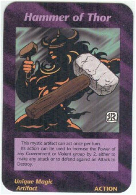 illuminati hammer of thor new world order game card