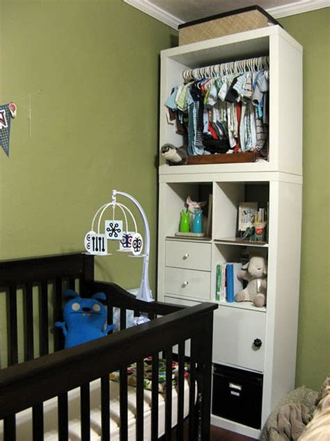 No Closet In Baby's Room? Hack An Ikea Expedit Bookshelf