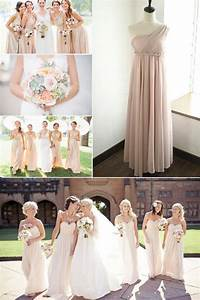 top 10 colors for bridesmaid dresses tulle chantilly With nude color wedding dress