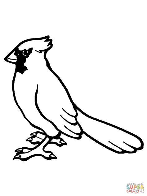 Dibujo De Ave Cardenal Norteo Para Colorear Dibujos