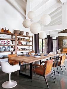 Style Contemporain : mesa oscura y sillas blancas el comedor tendencias de ~ Farleysfitness.com Idées de Décoration