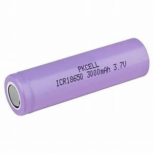 Pkcell Flat Top 18650 3 7v 3000mah Rechargeable Li