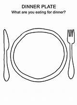 Plate Coloring Dinner Pages Thanksgiving Preschool Worksheets Draw Drawing Printable License Plates Crafts Doodle Template Worksheet Steak Happy Sheets Bestcoloringpagesforkids sketch template