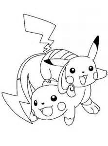 Kleurplaat Raichu by Pikachu And Raichu Coloring Pages By Stacey Fishes