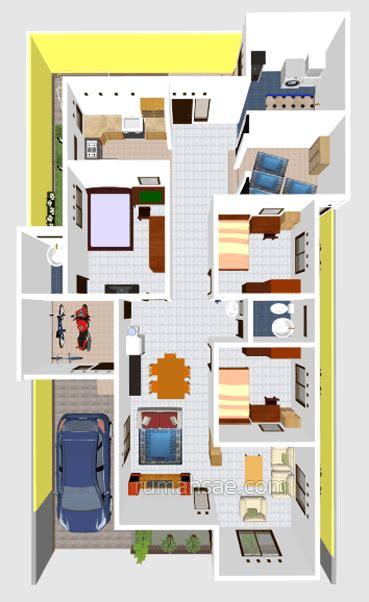 denah rumah  kamar tidur  mushola  rumah terbaru