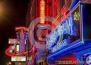 Nashville Music City Downtown Editorial Stock