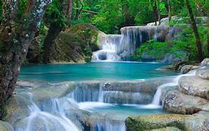 Thailand, Waterfalls, The, Beauty, Of, Nature, Landscape, Hd, Wallpapers, Tablets, And, Mobile, Phones, Free
