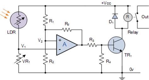 Light Sensor Including Photocell Ldr