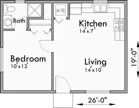 One Bedroom House Floor Plans by Small House Plans Studio House Plans One Bedroom House